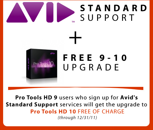 Attention Pro Tools HD 9 Owners!  Avid HD 10 Upgrade & Support Bundle Offer!
