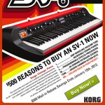 Korg SV-1 73 &amp; Korg SV-1 88 Rebate, San Diego Music Store
