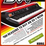 Korg SV-1 73 & Korg SV-1 88 Rebate, San Diego Music Store