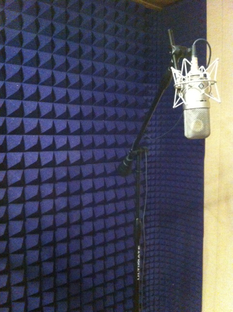 The 'quiet' room (with the Neumann M49)