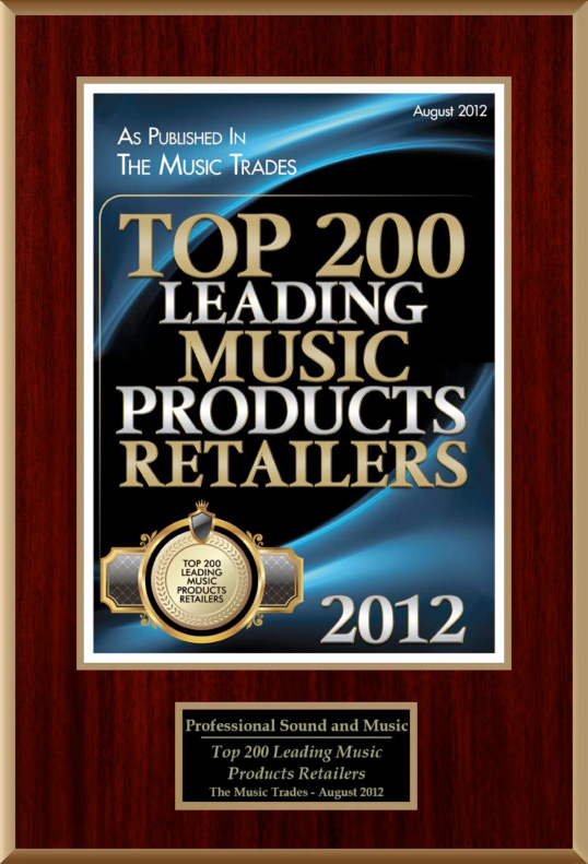 San Diego Top Music Product Retailer - The Music Trades Selects ProSound